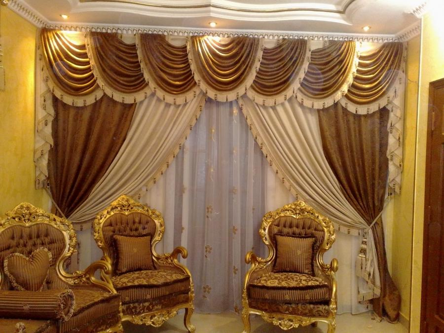 Luxury Curtain Designs For Small Gold Living Room Window...