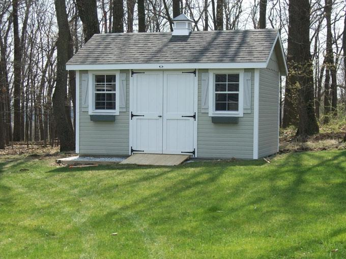 Classic Carriage House--Its classic looks set this shed apart...