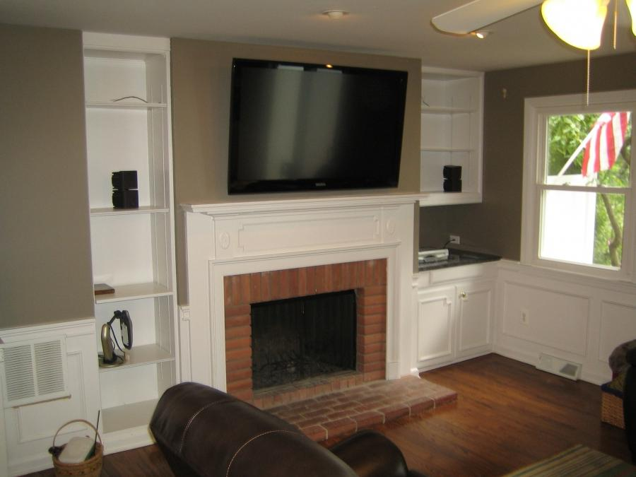 Photos Of Tv Over Fireplace