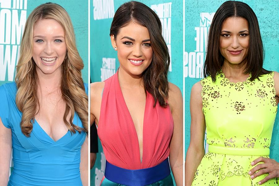 Starlets Shock in Electric Colors on MTV Movie Awards Red Carpet...