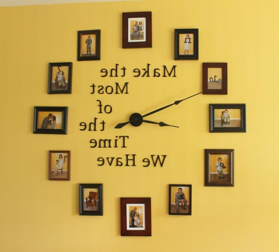 Do it yourself photo wall clock