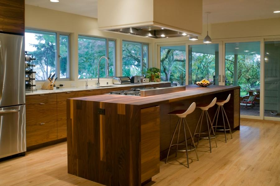 Long Kitchen Island in Portland Kitchen Remodel