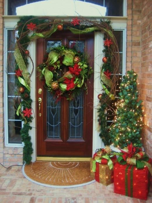 External Door Xmas Decoration Diy