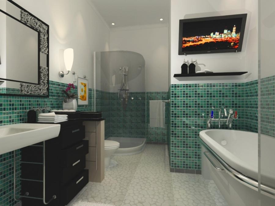 Art deco bathrooms photos for Small art deco bathroom ideas