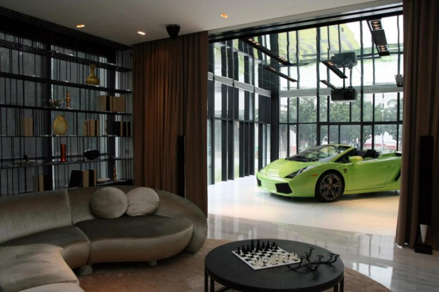 Car Themed Living Room Design Images 01: Car Themed Living Room...