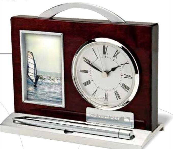 Desk Clock Photo Frame