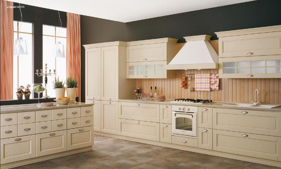Kitchen made of magnolia lacquered ash