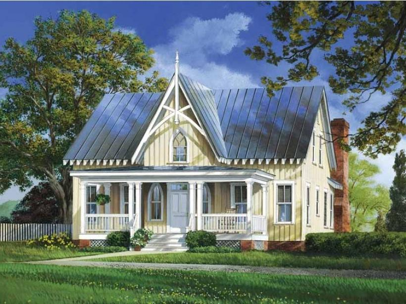 Cottage style house photos for Gothic greenhouse plans