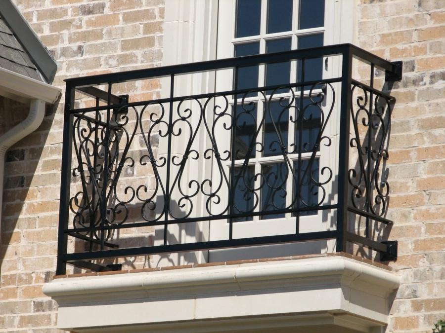 Decorate your balcony with a custom designed wrought iron...