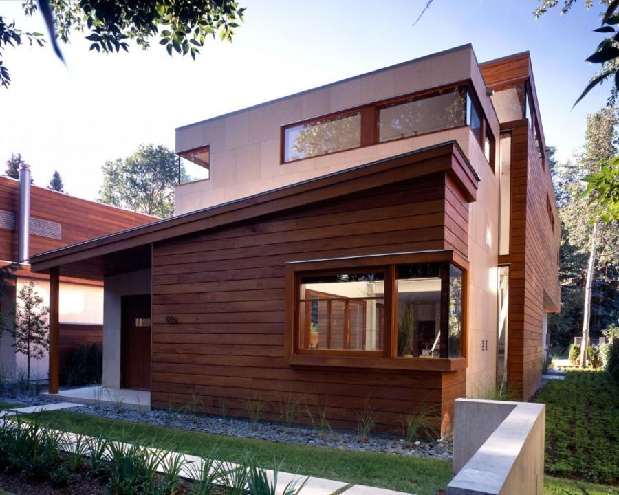 Natural House Design Outside View