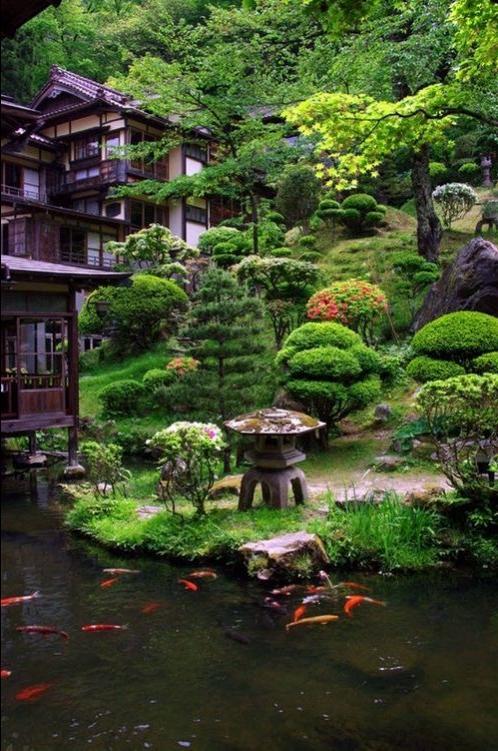 Beautiful japanese garden photos