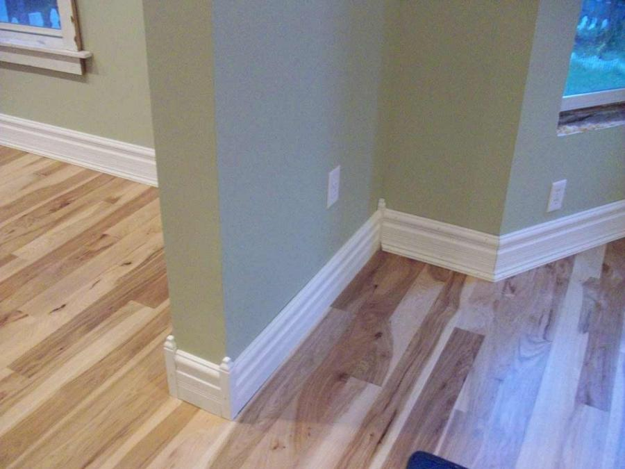 Images Of Baseboard Molding Around Kitchen Cabinet And Bamboo Floor