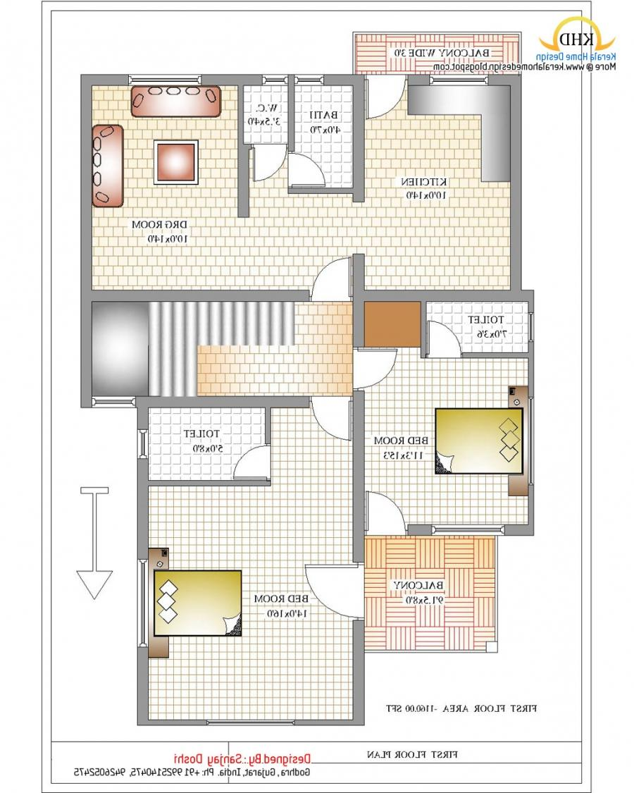 South indian duplex house plans with photos for Home plan design india