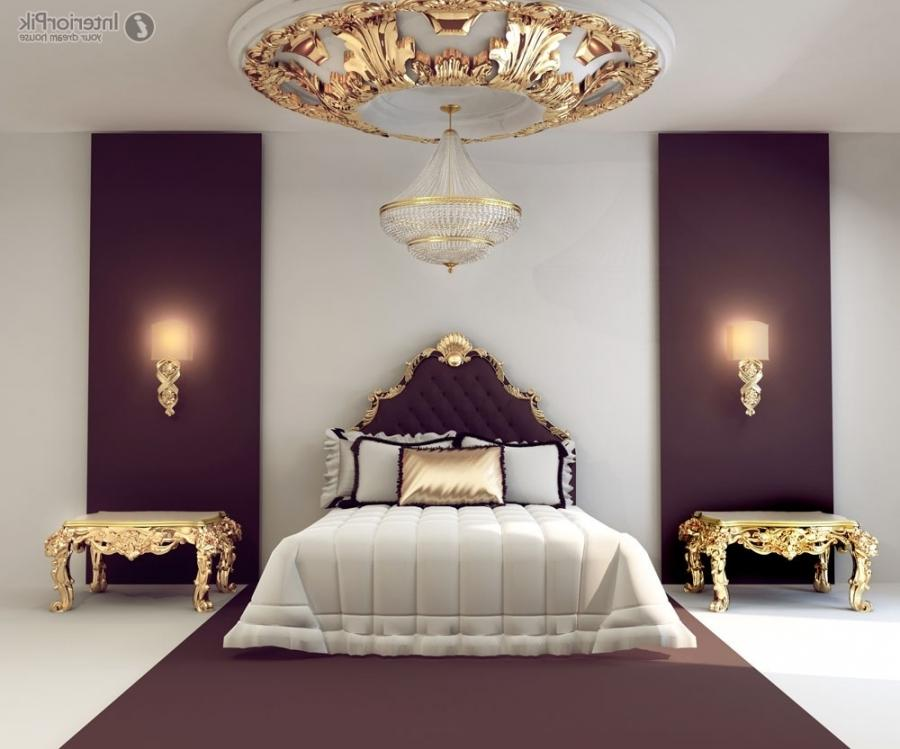 European-style luxury bedroom decoration design effect figure .
