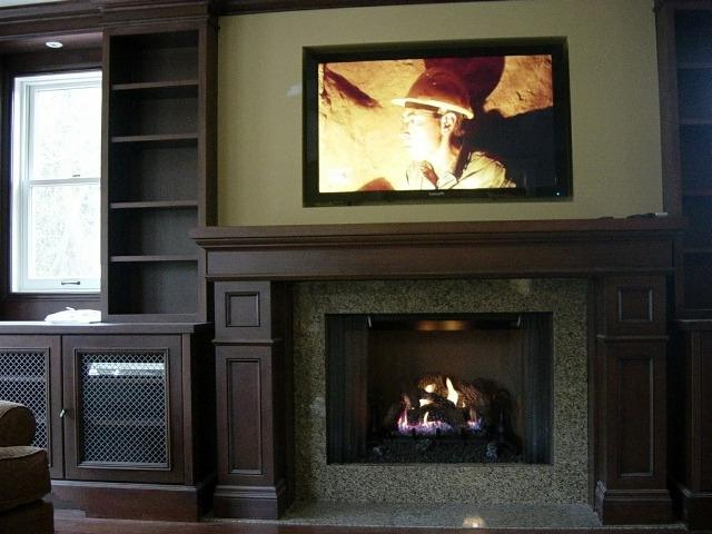 Tv over fireplace ideas photos for Tv over fireplace ideas
