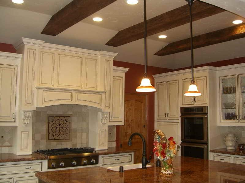 Modern Kitchen Exposed Beam Ceiling Lighting