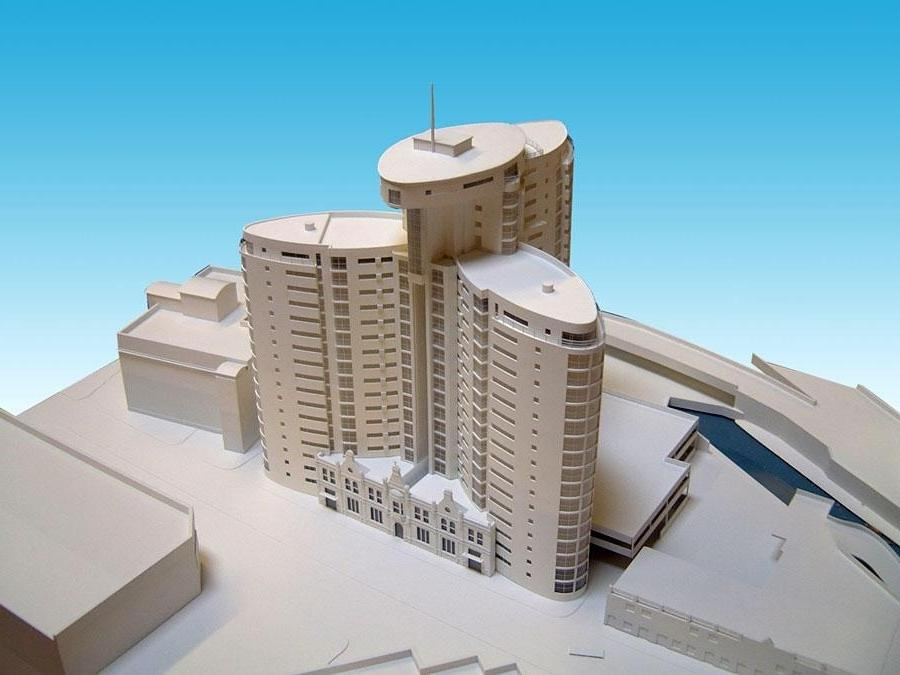 White Apartment Tower - Scale 1:200 Two identical models of this...