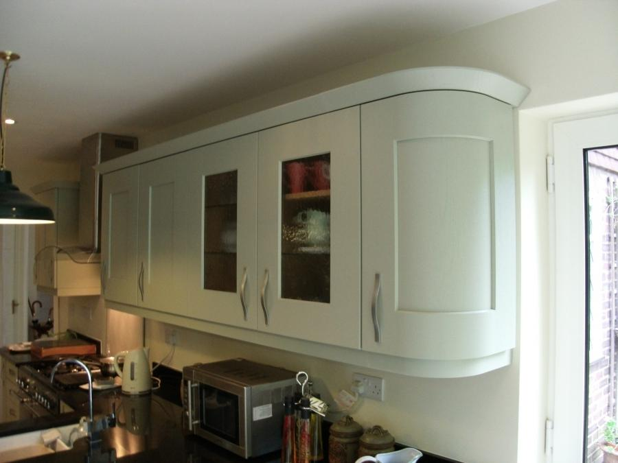 Painted Sage Green Kitchen Nearing Completion Fitted In