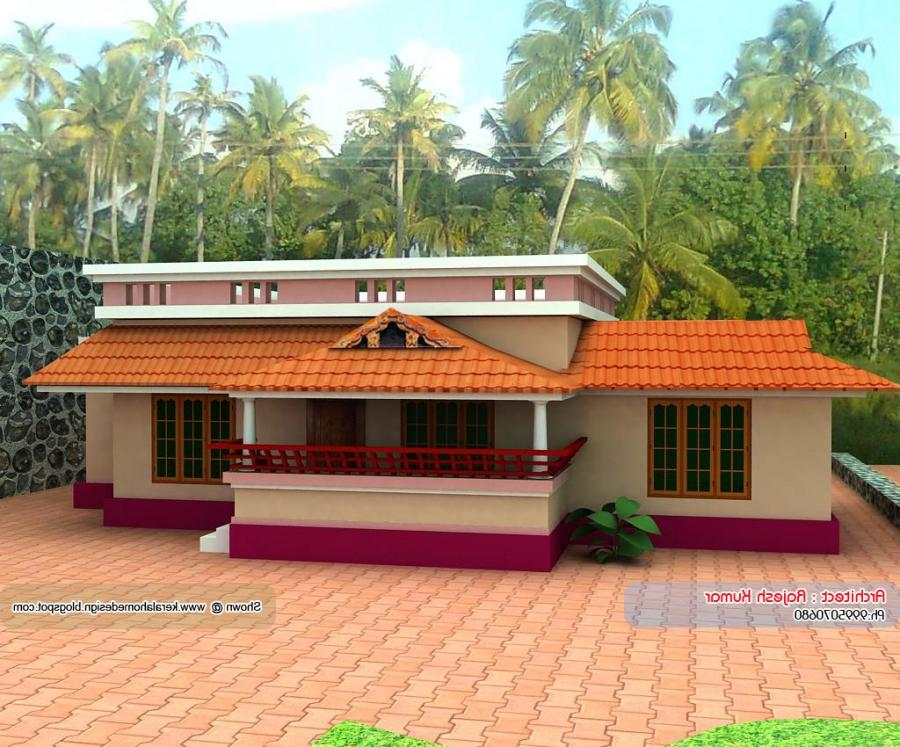 Below 1000 sq ft 2 floor plan kerala style in 3 cents for House plans below 1000 sq ft kerala
