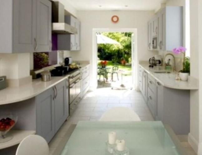 two way galley kitchen photos