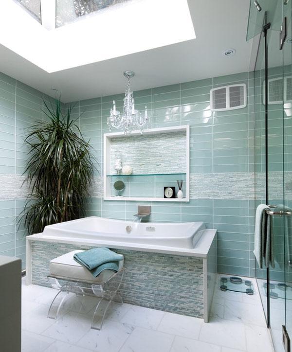 Aqua blue bathrooms