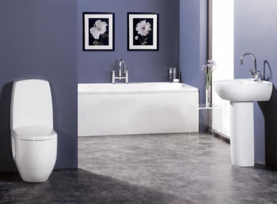Nice Modern Bathroom Ideas In Blue Color Scheme Picture TN173