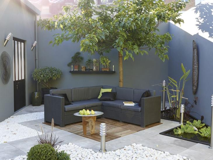 Photo decoration jardin terrasse for Deco terras zen
