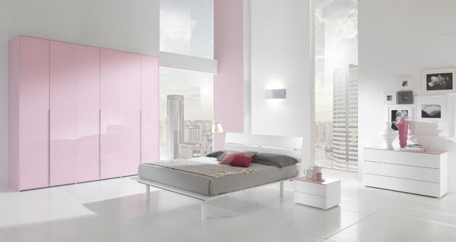 Fresh White Pink Bedroom Design Ideas With Modest Ornament
