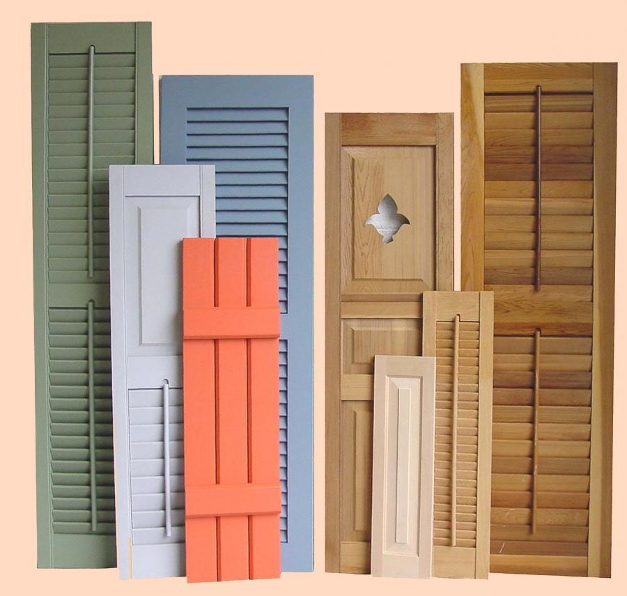 wooden shutters photos