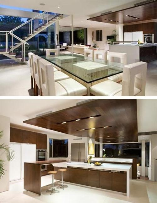 Contemporary dining room and kitchen design House in Cheviot...