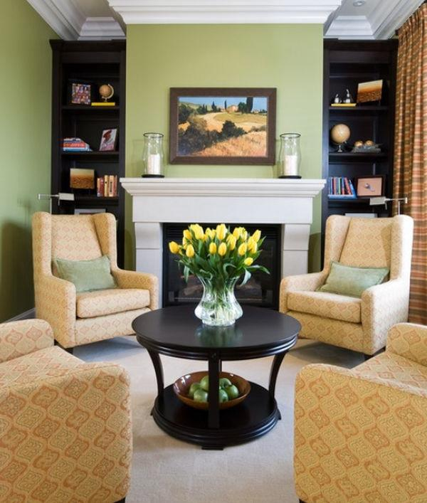 Furniture Placement Around Fireplace Photos