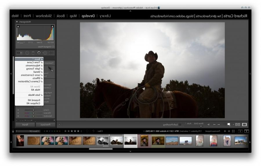 how to develop photo in lightroom