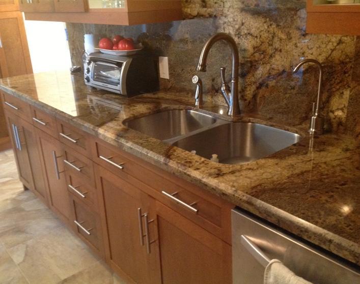granite countertops in a kitchen