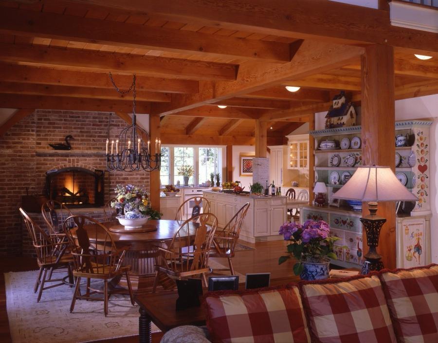Custom luxury post and beam home interior photos joy for Interior pictures of post and beam homes