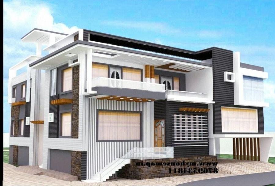 Front elevation of house in india photos samples for Housse 30x50