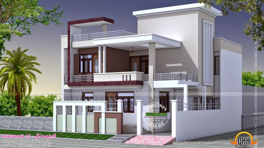 North indian house designs photos for Indian house front view