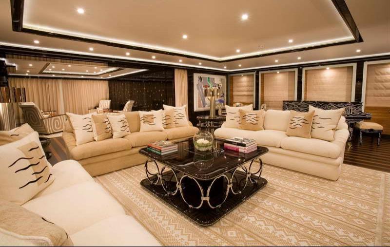 Yacht interior photos for Table design yacht