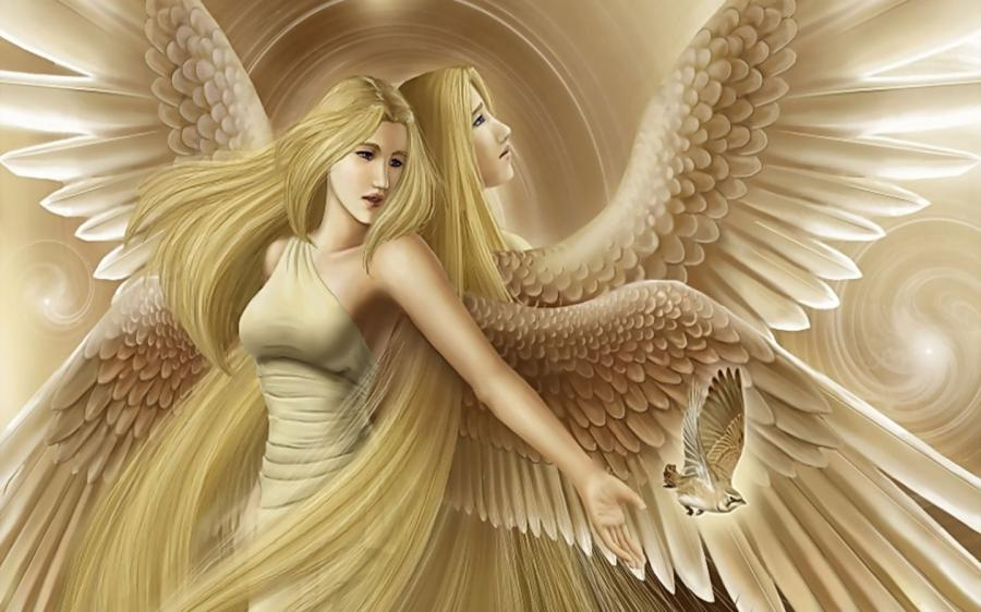 Two Angels 1440x900 wallpaper