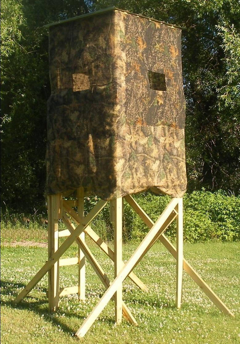 Tree deer blind photos for Deer hunting platforms