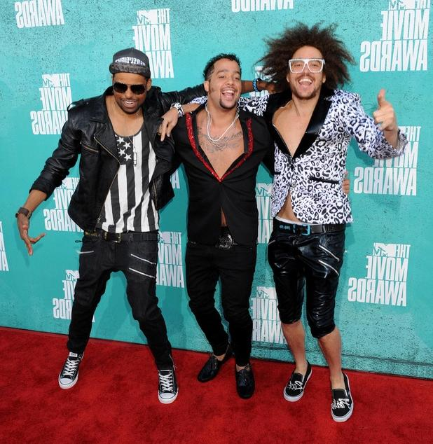 Previous Next LMFAO on the red carpet at the MTV Movie Awards...