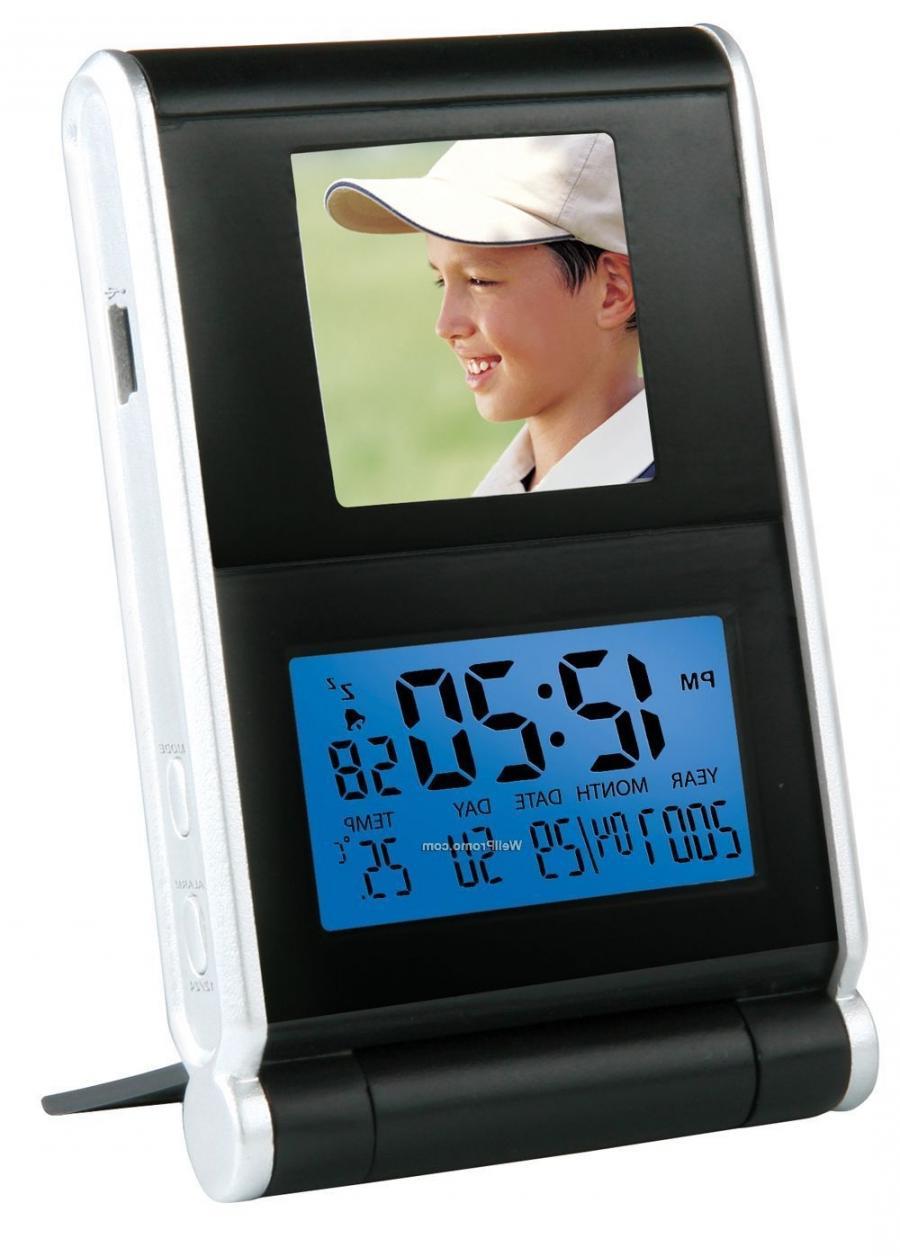 Texet 1.5 digital photo frame & travel clock
