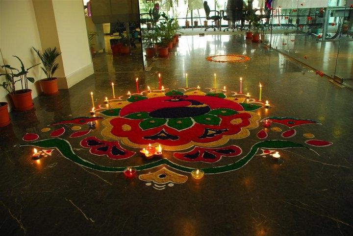 Diwali home decoration photos for Simple diwali home decorations