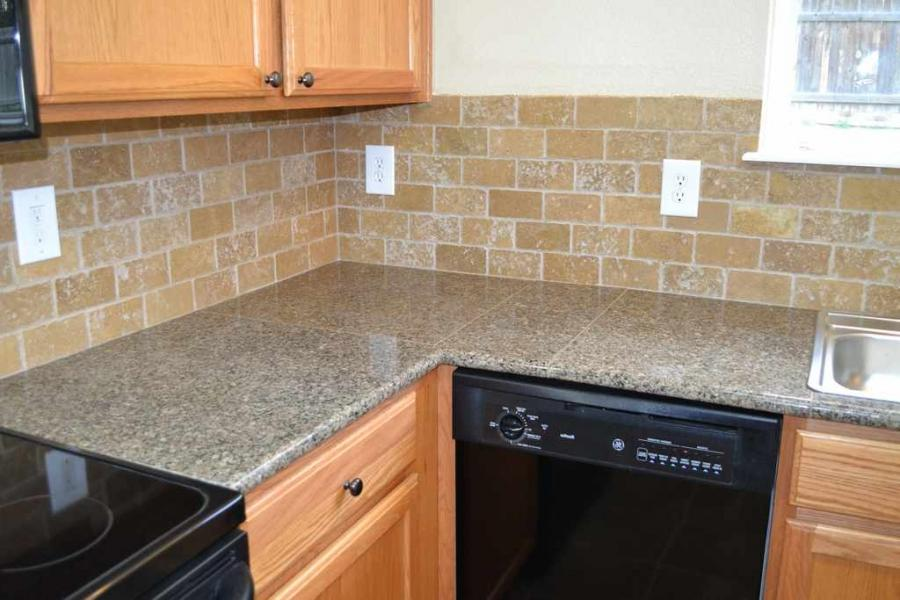 Black Dishwasher Also Modern Electric Stove Top And Great Tile ...