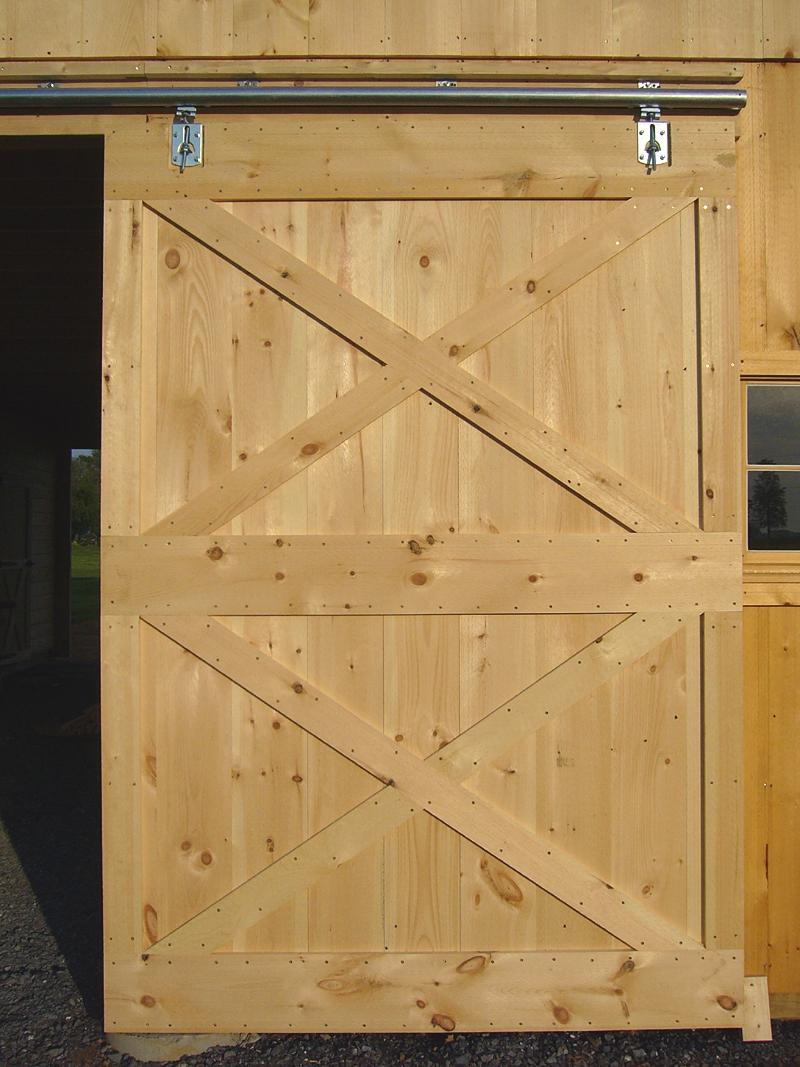 Photo barn door for Sliding barn door construction plans