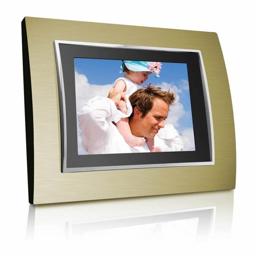 Coby 3.5 in. digital photo frame with alarm clock