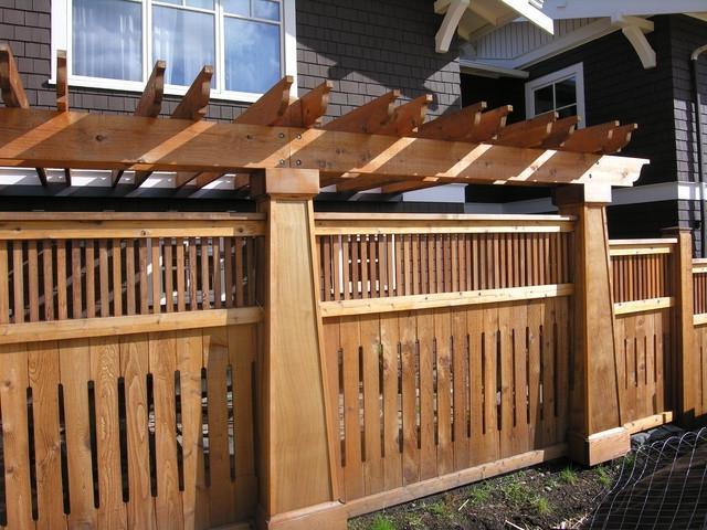 Craftsman Style Fence Photos