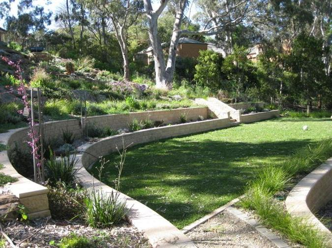 Sloping garden designs photos for Garden design channel 4