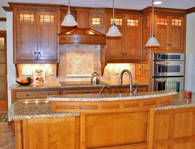 Craftsman style kitchen photos for Kustom kitchens