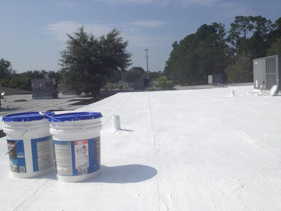 Where did you hear that painting your roof white could help you...