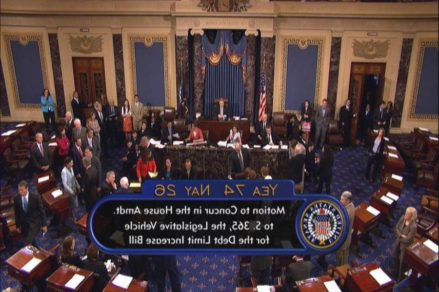 View full sizeThis video image provided by Senate Television...
